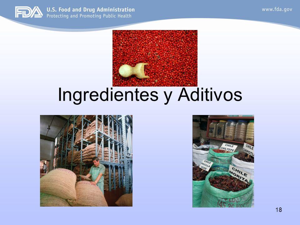 18 Ingredientes y Aditivos