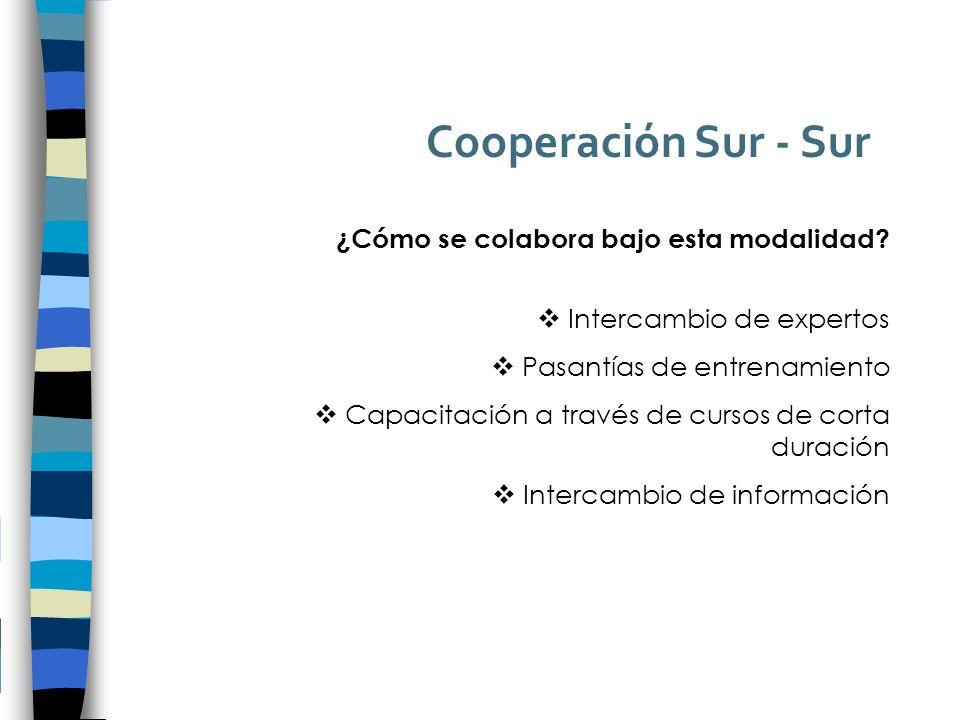 Cooperación Sur - Sur ¿Cómo se colabora bajo esta modalidad.