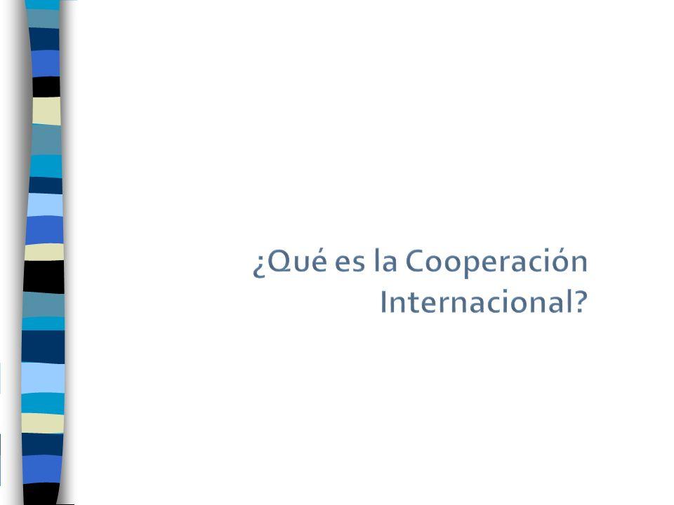La Cooperación debe entenderse como un proceso de ida y vuelta, en que cada una de las partes o países involucrados, donantes o receptores, acuerdan resolver un determinado problema y al hacerlo, alcanzar objetivos, que cada uno de ellos se ha propuesto previamente: