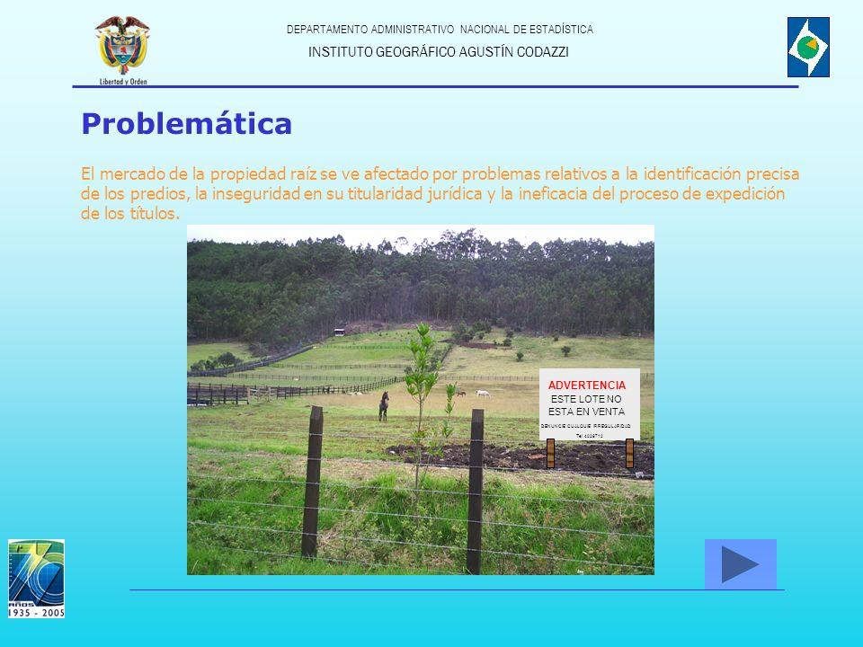 ADVERTENCIA DENUNCIE CUALQUIE IRREGULARIDAD Tel 4026712 ESTE LOTE NO ESTA EN VENTA INSTITUTO GEOGRÁFICO AGUSTÍN CODAZZI DEPARTAMENTO ADMINISTRATIVO NA
