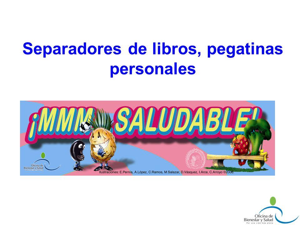 Separadores de libros, pegatinas personales