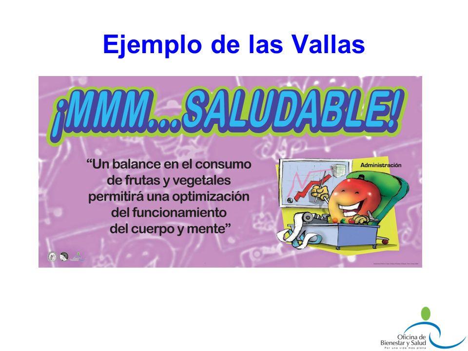 Ejemplo de las Vallas