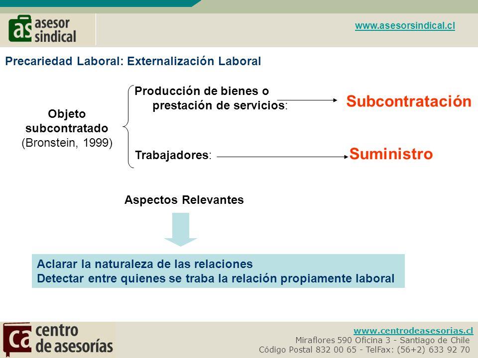 www.centrodeasesorias.cl Miraflores 590 Oficina 3 - Santiago de Chile- Código Postal 832 00 65 - TelFax: (56+2) 633 92 70- www.asesorsindical.cl Empleador: ART 3º CT.
