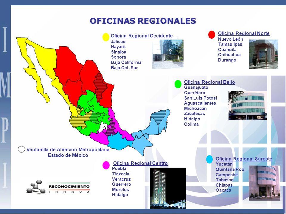 INMUEBLES IMPI ORO - 2000 IMPI ORB - 2002IMPI ORS - 2002 IMPI ORN - 2000 IMPI Arenal - 2003 IMPI Periférico - 1994 IMPI Puebla-2009