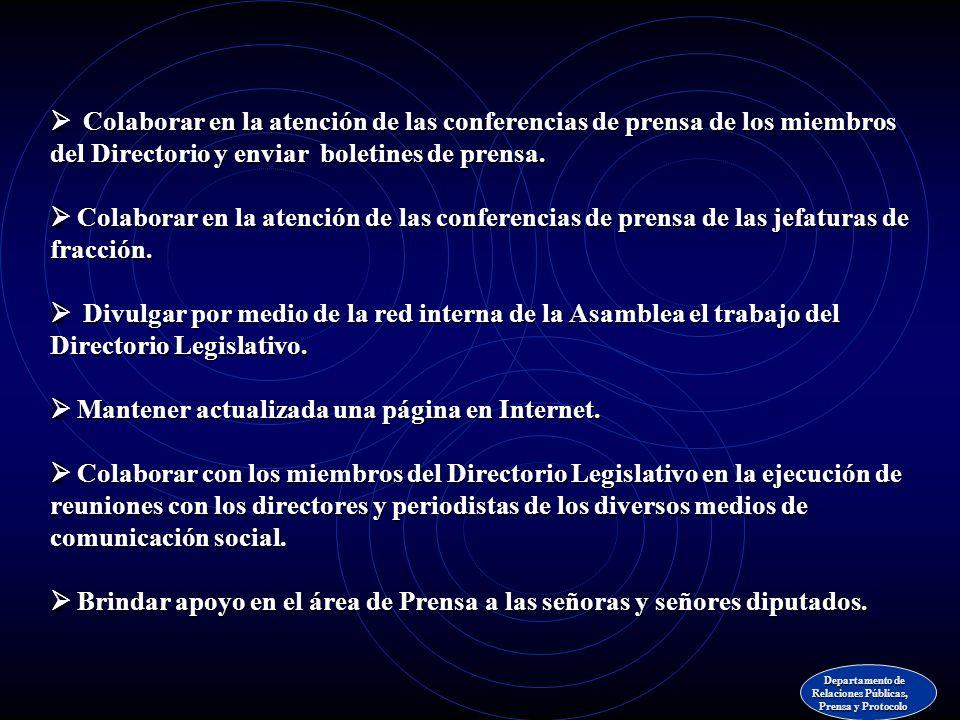 Elaborar guías explicativas de los proyectos de ley en discusión. Apoyar a los diputados que no tengan personal de prensa para proyectar nacional y re