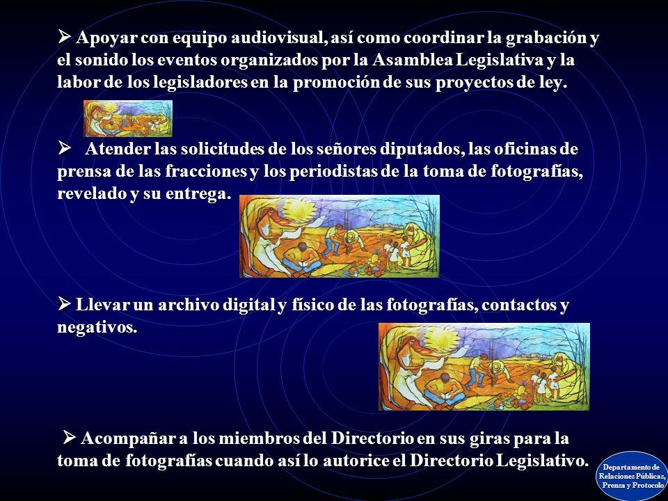Apoyar las transmisiones del Plenario por Radio Nacional y producir diversos programas radiofónicos de información legislativa. Grabar en video las se