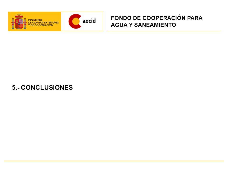 5.- CONCLUSIONES FONDO DE COOPERACIÓN PARA AGUA Y SANEAMIENTO