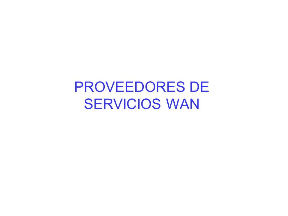 Los enlaces WAN se pueden solicitar al proveedor de WAN con diversas velocidades, que se clasifican según su capacidad de bits por segundo (bps).