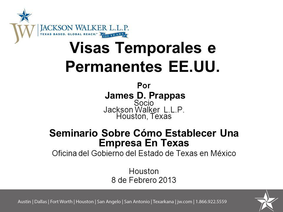 Visas de Trabajo (cont.) Profesionista con Estudios de Posgrado [2da.