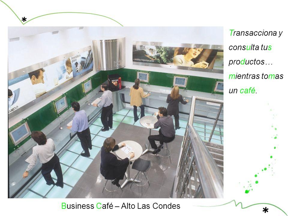 Transacciona y consulta tus productos… mientras tomas un café. Business Café – Alto Las Condes