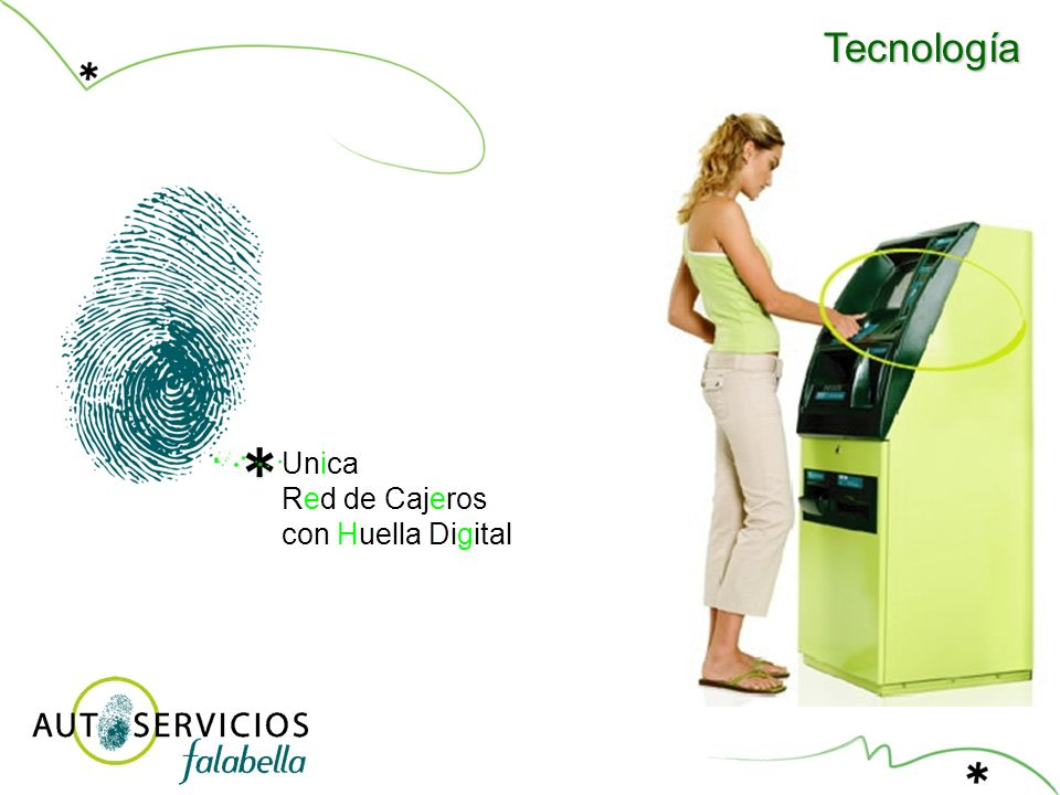 Tecnología Unica Red de Cajeros con Huella Digital