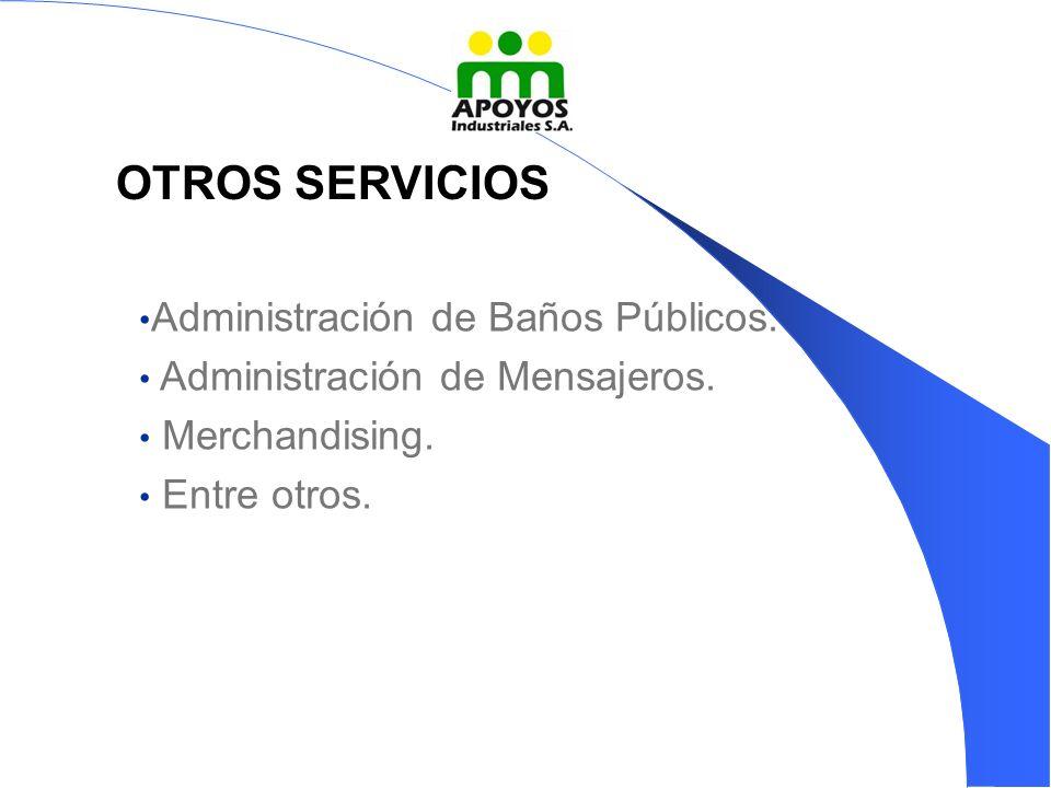 Administración de Baños Públicos.Administración de Mensajeros.