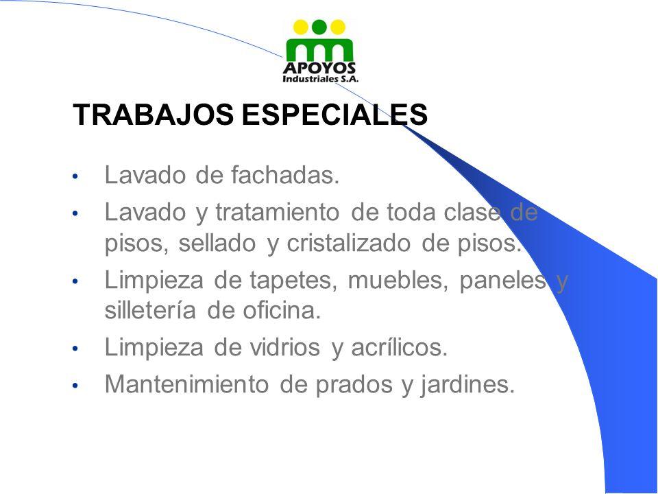 Lavado de fachadas.Lavado y tratamiento de toda clase de pisos, sellado y cristalizado de pisos.