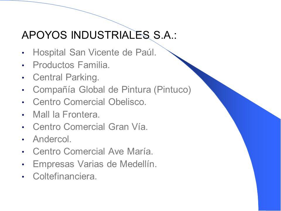 APOYOS INDUSTRIALES S.A.: Hospital San Vicente de Paúl.