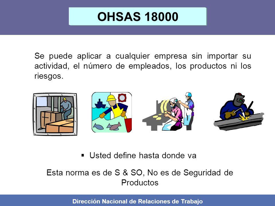 Dirección Nacional de Relaciones de Trabajo Se puede aplicar a cualquier empresa sin importar su actividad, el número de empleados, los productos ni l