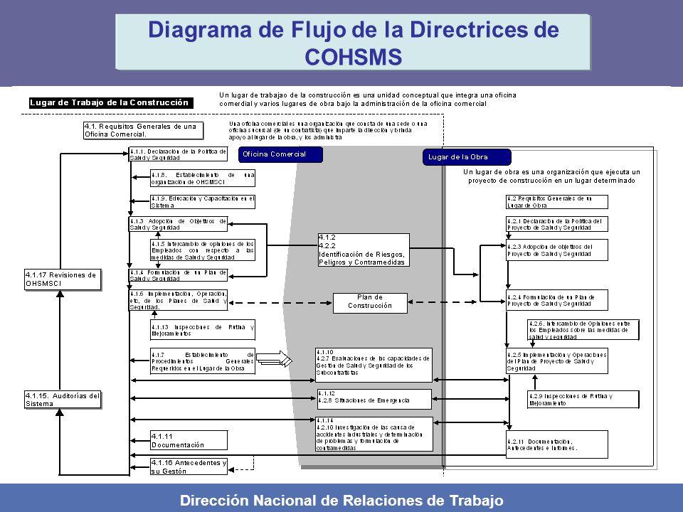 Dirección Nacional de Relaciones de Trabajo Diagrama de Flujo de la Directrices de COHSMS
