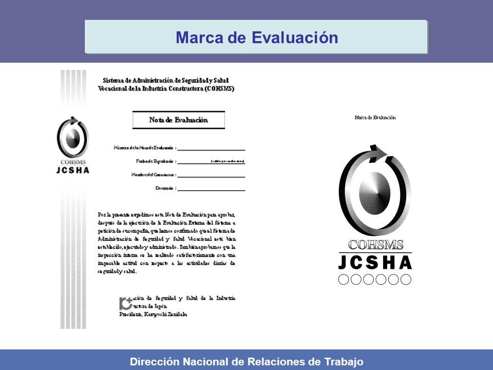 Dirección Nacional de Relaciones de Trabajo Marca de Evaluación