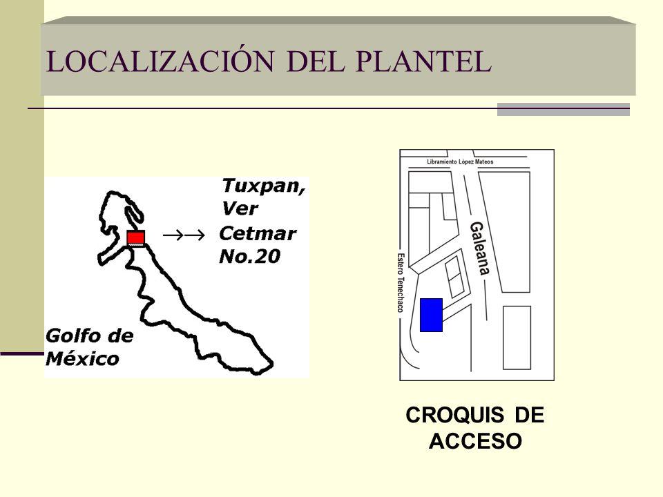 LOCALIZACIÓN DEL PLANTEL CROQUIS DE ACCESO
