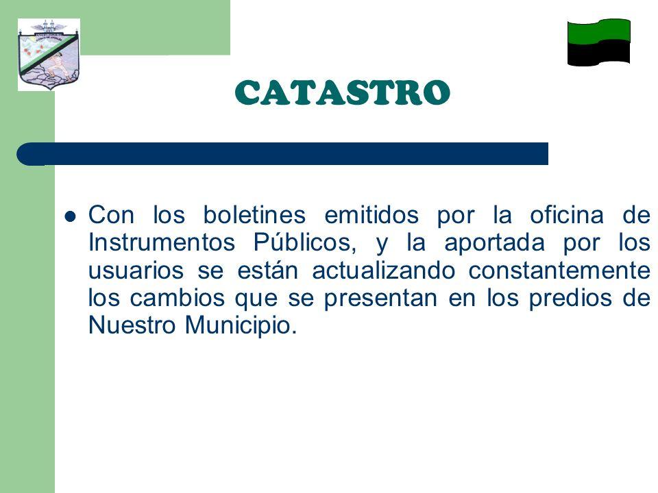 CATASTRO – La gobernación de Antioquia en un convenio con Catastro Departamental beneficio a nuestro Municipio dotando la Oficina de Catastro Municipal con 1 Computador, 1 impresora, 1 Escáner, Línea telefónica e internet para implementar la oficina de Antioquia virtual.