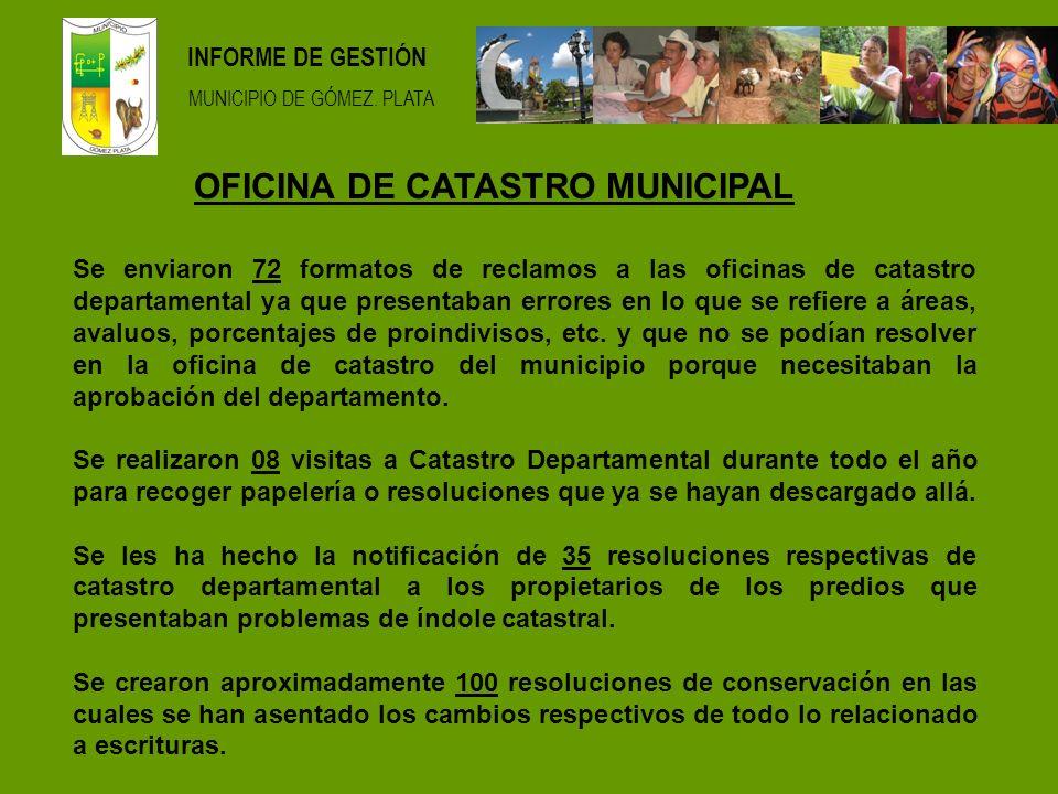 INFORME DE GESTIÓN MUNICIPIO DE GÓMEZ.