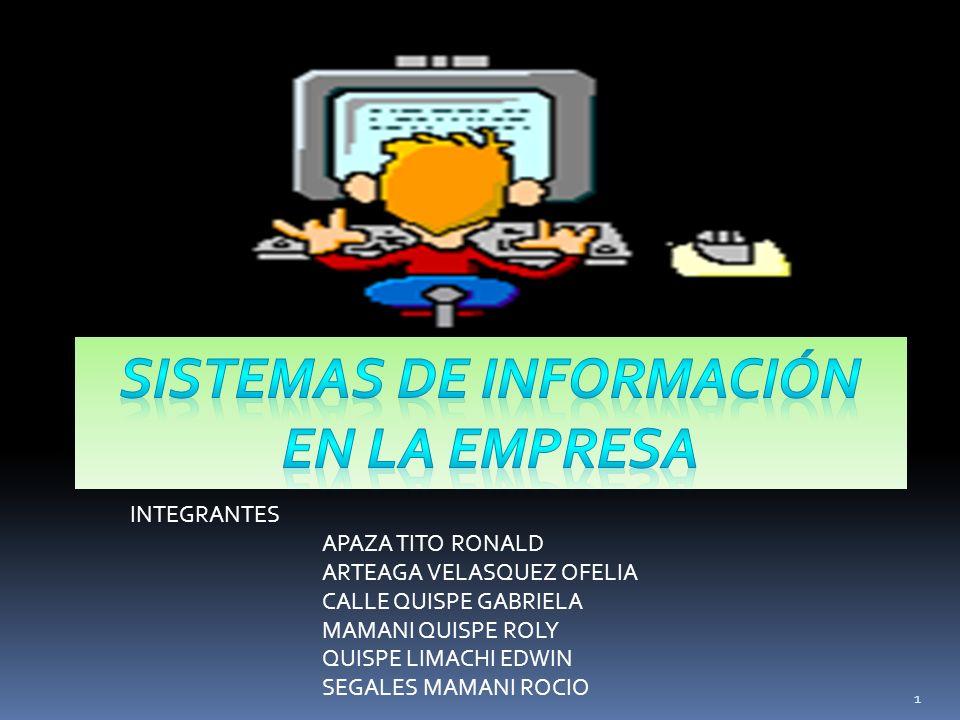 La empresa necesita diferentes tipos de sistemas de información Para apoyar la toma de decisiones.