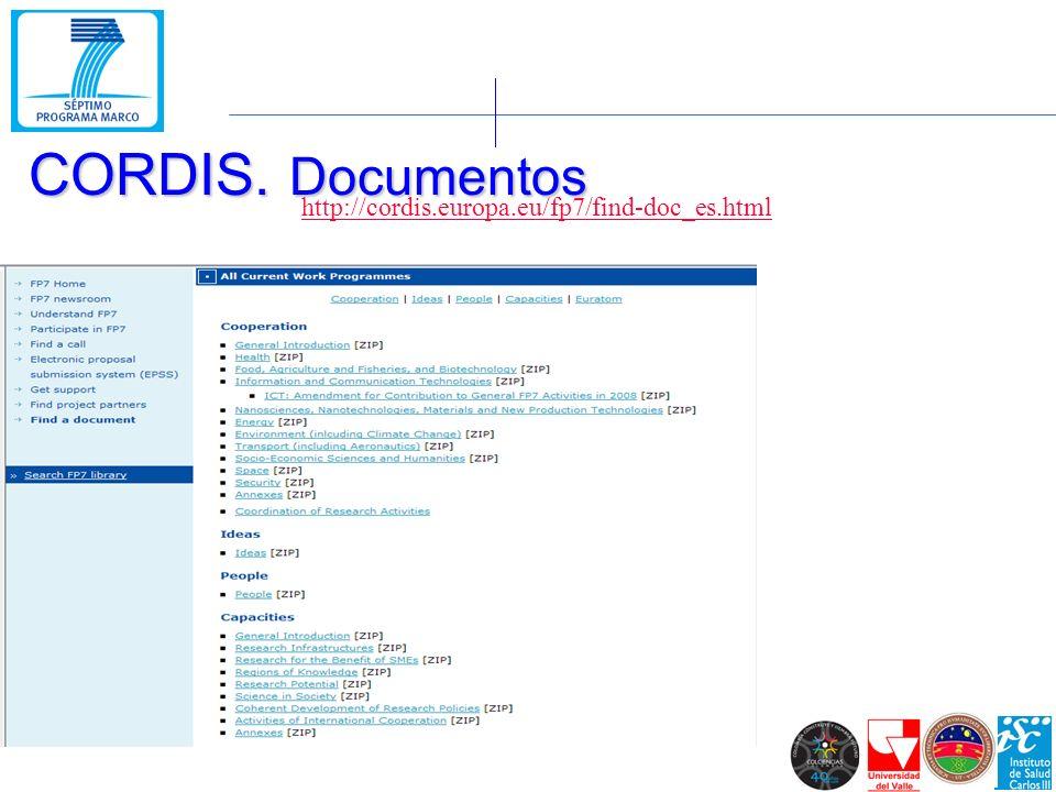 http://cordis.europa.eu/fp7/find-doc_es.html CORDIS. Documentos
