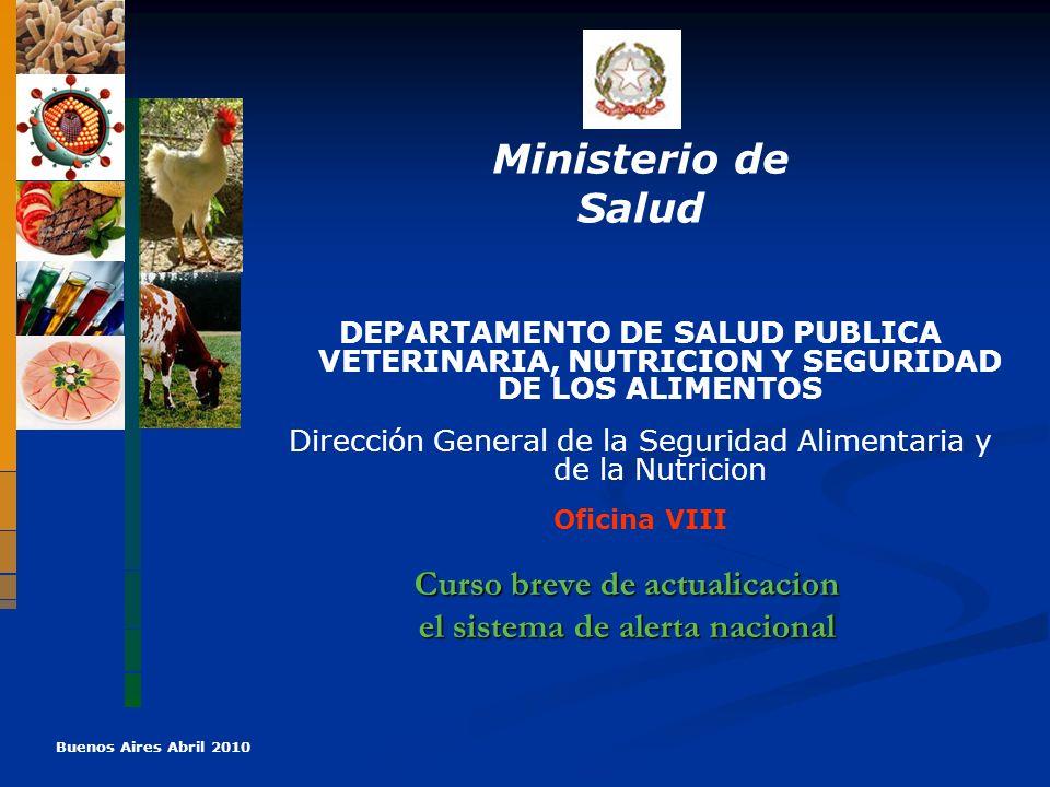 Curso breve de actualicacion el sistema de alerta nacional Curso breve de actualicacion el sistema de alerta nacional Ministerio de Salud DEPARTAMENTO