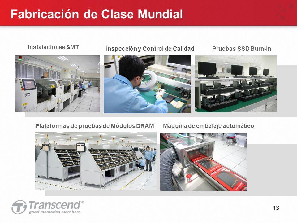 13 Fabricación de Clase Mundial Instalaciones SMT Plataformas de pruebas de Módulos DRAMMáquina de embalaje automático Inspección y Control de Calidad Pruebas SSD Burn-in