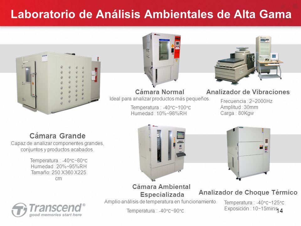14 Laboratorio de Análisis Ambientales de Alta Gama Cámara Normal Ideal para analizar productos más pequeños.