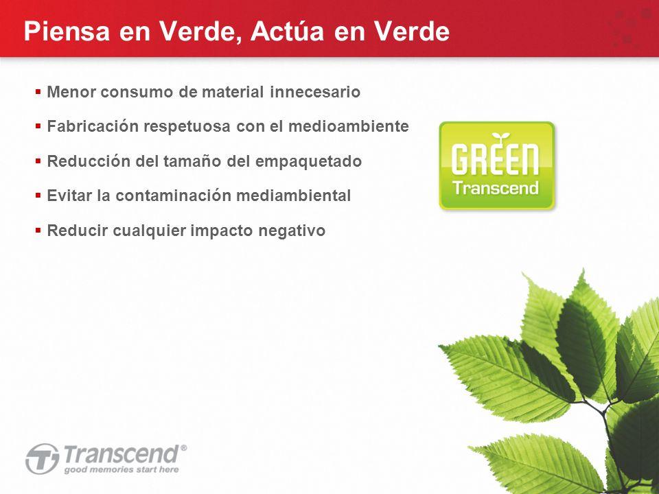 31 Piensa en Verde, Actúa en Verde Menor consumo de material innecesario Fabricación respetuosa con el medioambiente Reducción del tamaño del empaquetado Evitar la contaminación mediambiental Reducir cualquier impacto negativo