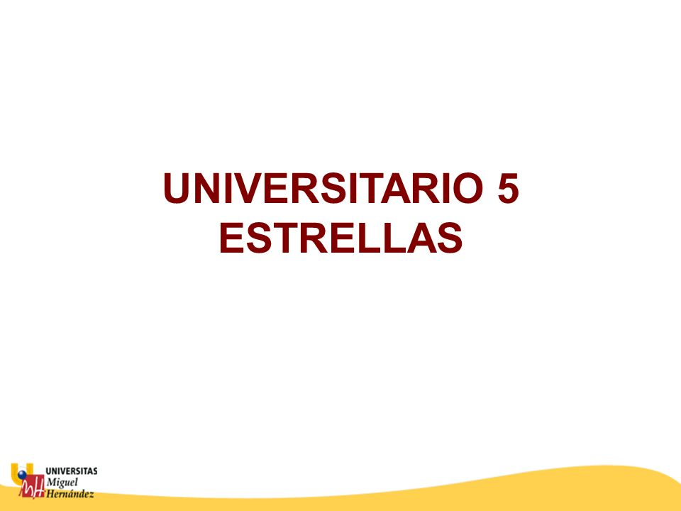 UNIVERSITARIO 5 ESTRELLAS