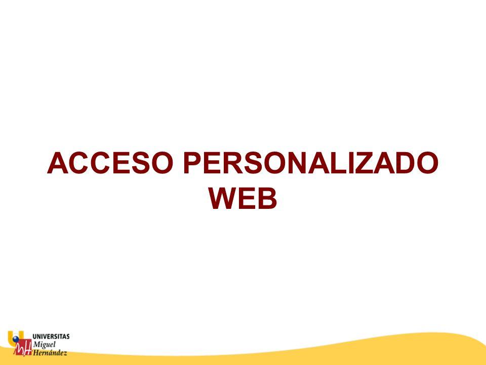 ACCESO PERSONALIZADO WEB