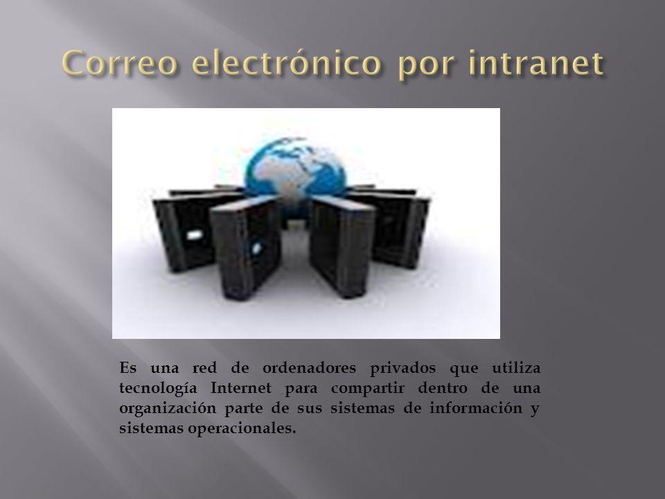 Es una red de ordenadores privados que utiliza tecnología Internet para compartir dentro de una organización parte de sus sistemas de información y si