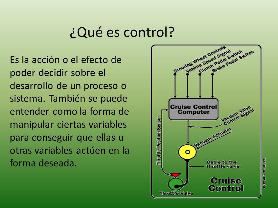 ¿Qué es control.