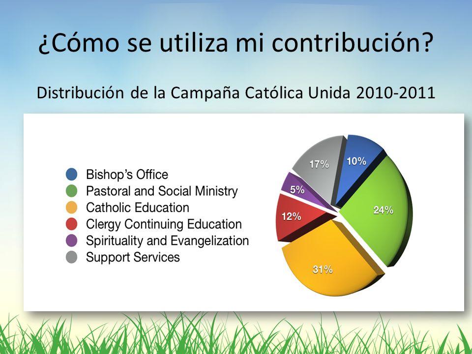 ¿Cómo se utiliza mi contribución? Distribución de la Campaña Católica Unida 2010-2011