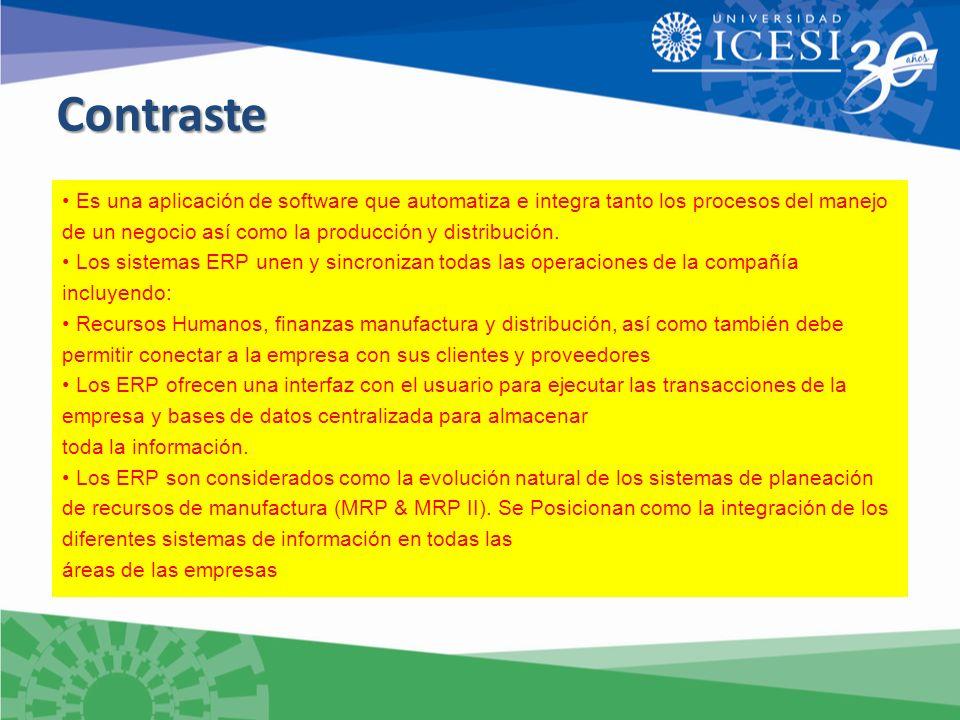 ContrasteContraste Es una aplicación de software que automatiza e integra tanto los procesos del manejo de un negocio así como la producción y distribución.