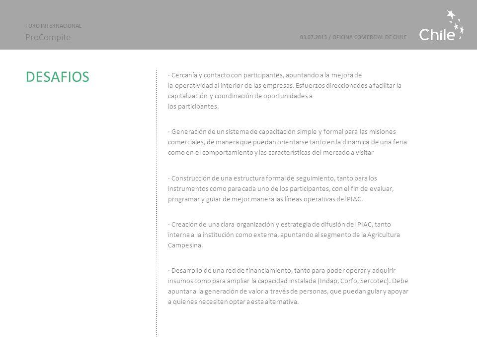 Marcas Sectoriales | ProChile · Cercanía y contacto con participantes, apuntando a la mejora de la operatividad al interior de las empresas.