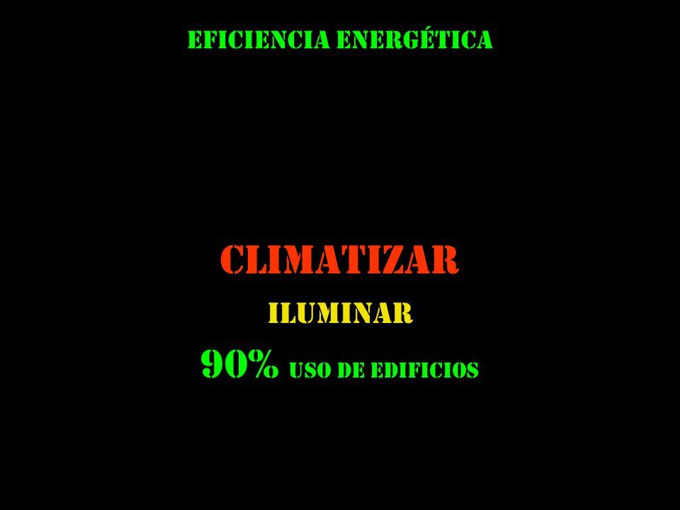 climatizar iluminar Eficiencia energética 90% uso de edificios