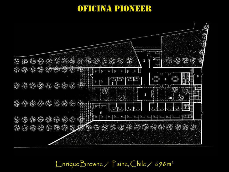 Oficina pioneer Enrique Browne / Paine, Chile / 698 m 2