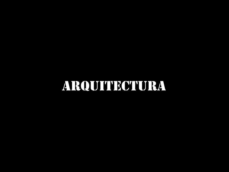 ¿qué tiene que ver la arquitectura en todo esto?