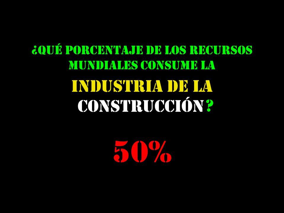 construcción Industria de la ¿qué porcentaje de los recursos mundiales consume la ? 50%