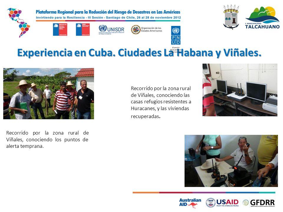 Experiencia en Cuba. Ciudades La Habana y Viñales. Recorrido por la zona rural de Viñales, conociendo las casas refugios resistentes a Huracanes, y la