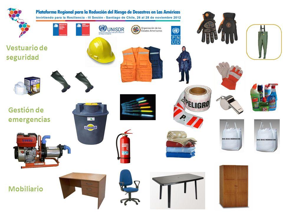 Vestuario de seguridad Gestión de emergencias Mobiliario