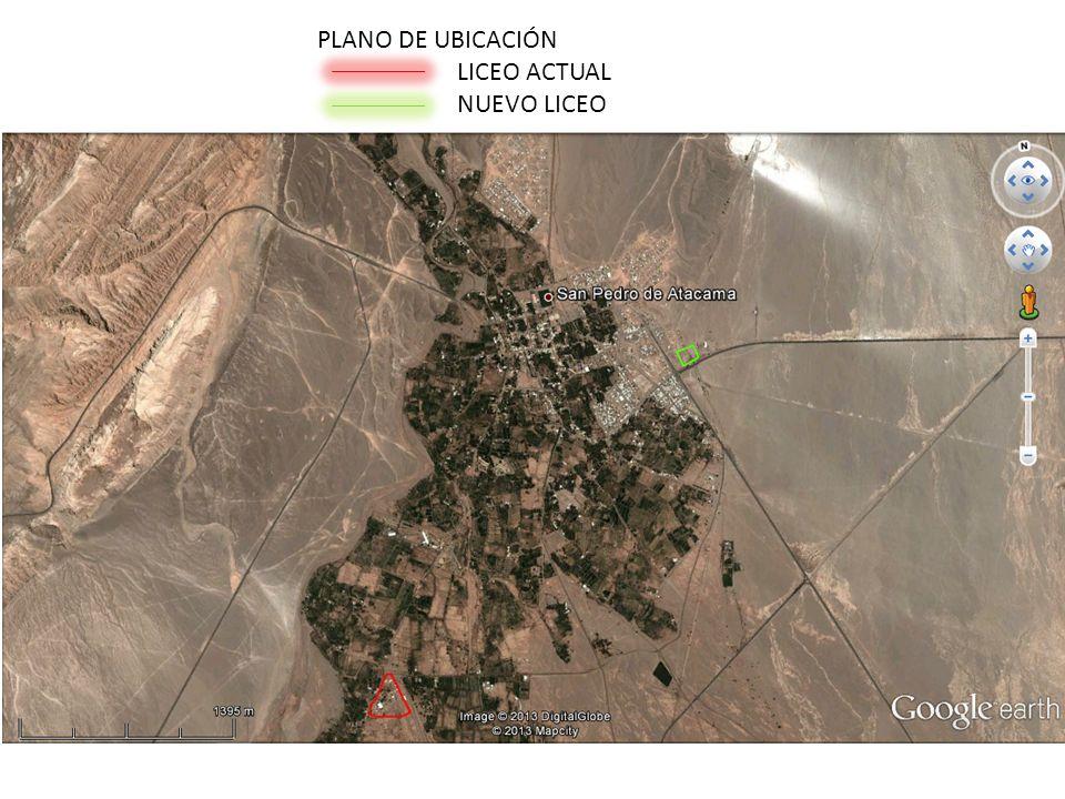 PLANO DE UBICACIÓN LICEO ACTUAL NUEVO LICEO