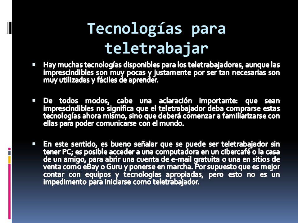 Tecnologías para teletrabajar