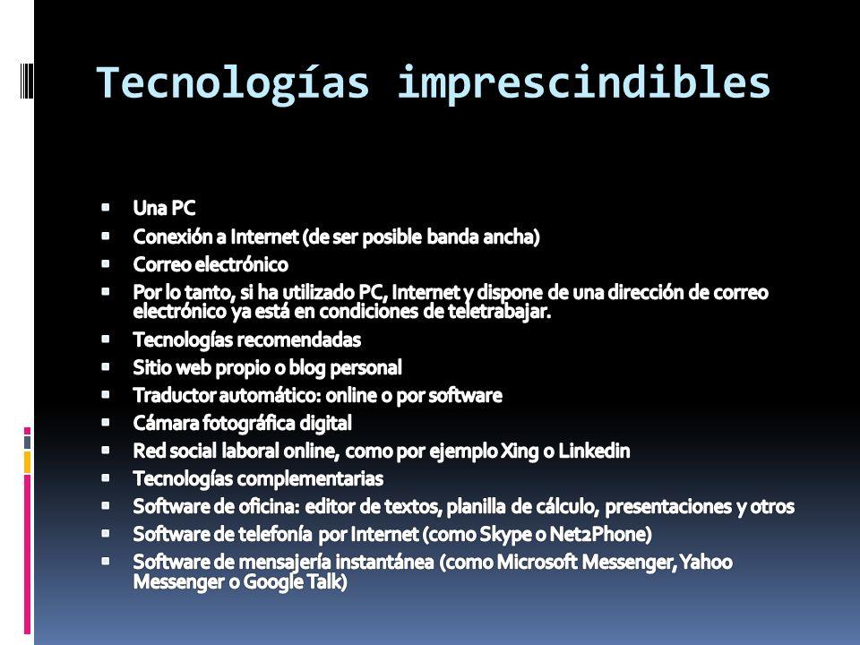 Tecnologías imprescindibles