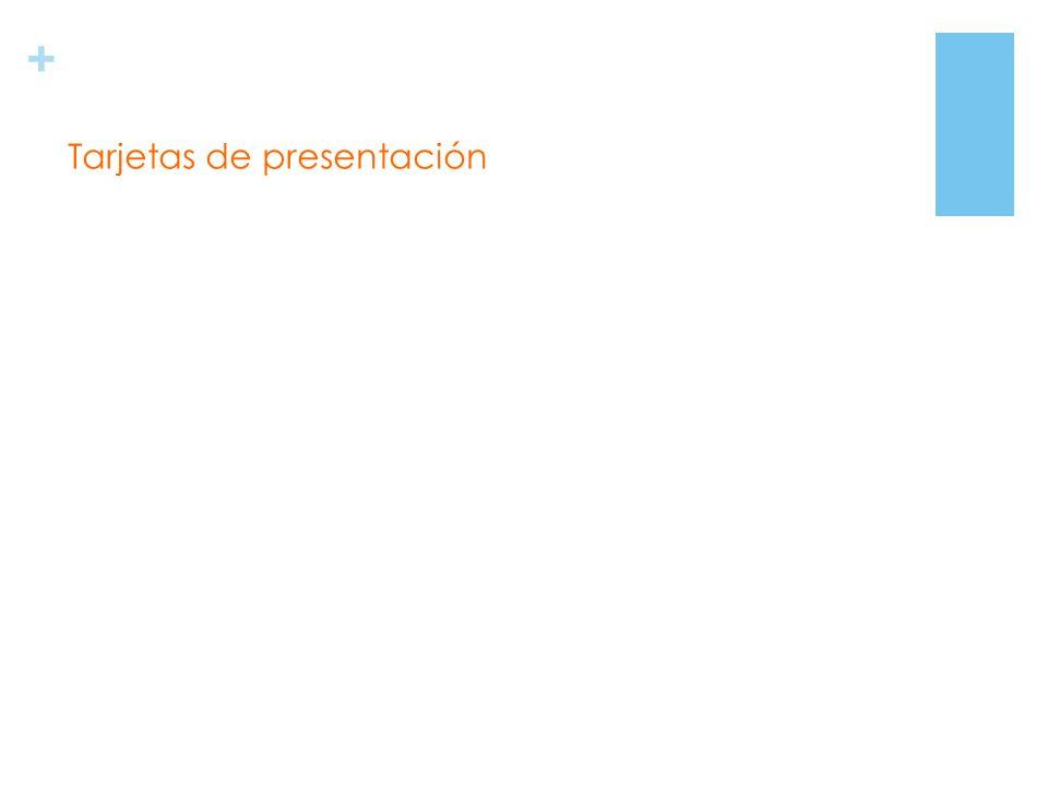 + Tarjetas de presentación