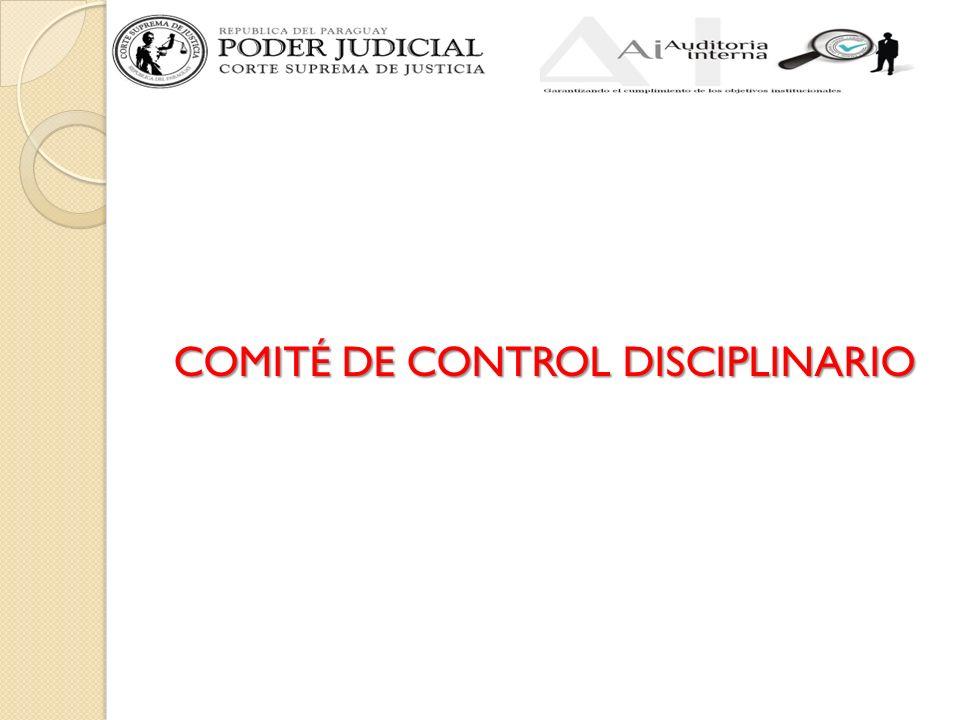 COMITÉ DE CONTROL DISCIPLINARIO