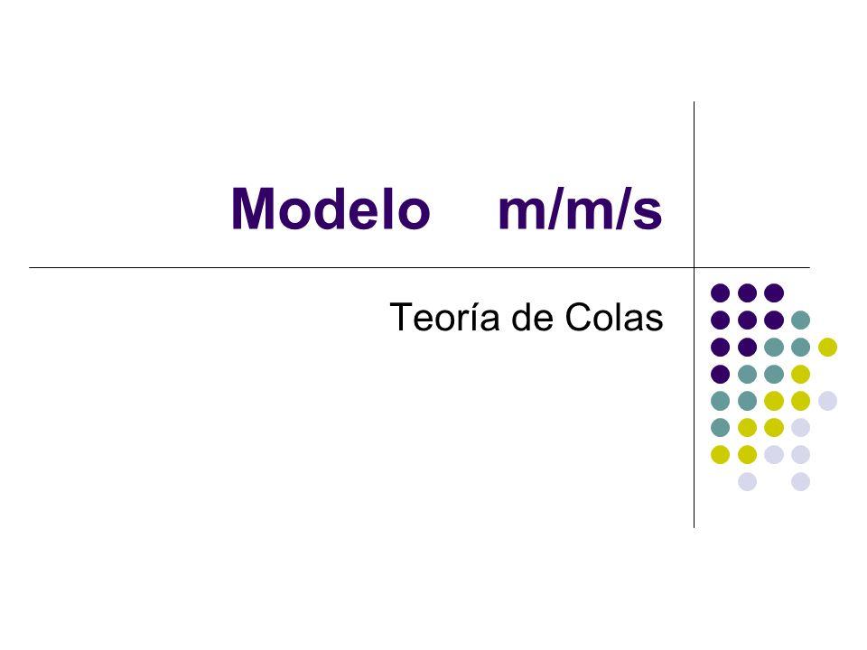 Modelo m/m/s Teoría de Colas