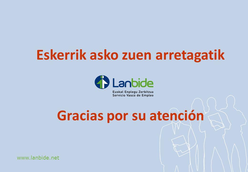 www.lanbide.net Eskerrik asko zuen arretagatik Gracias por su atención